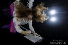 Meerjungfrau bei der Arbeit