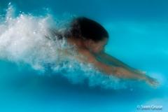 Actionfoto unter Wasser