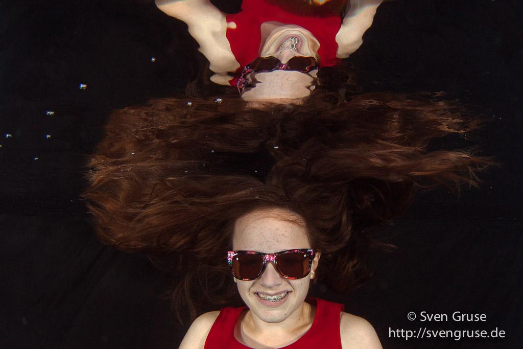 Portrait unter Wasser